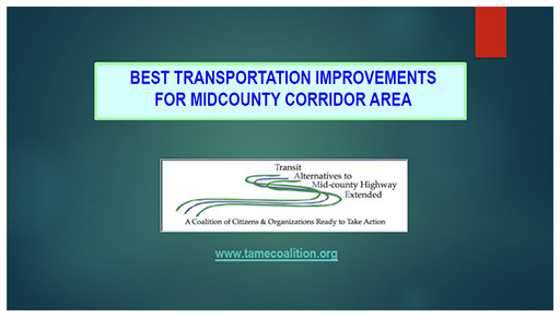 Best Transportation Improvements for MidCounty Corridor Area